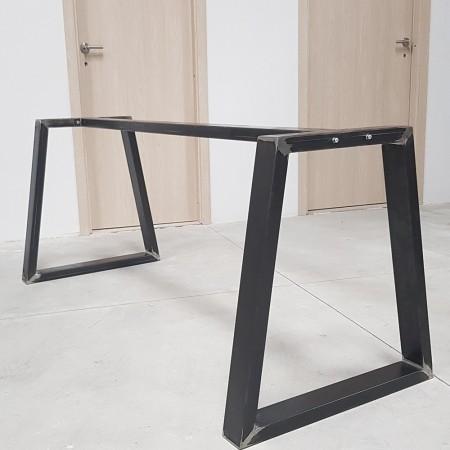 Gambe per tavolo in metallo con barra centrale, piedi a forma di Trapezio  TRB8040