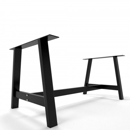 2x Metal table legs - A...
