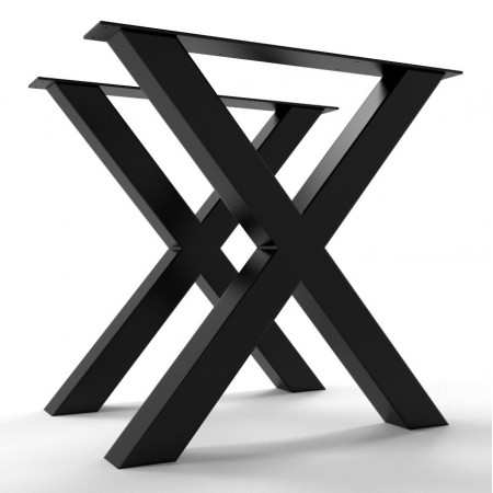 2 x Metal table legs, X...