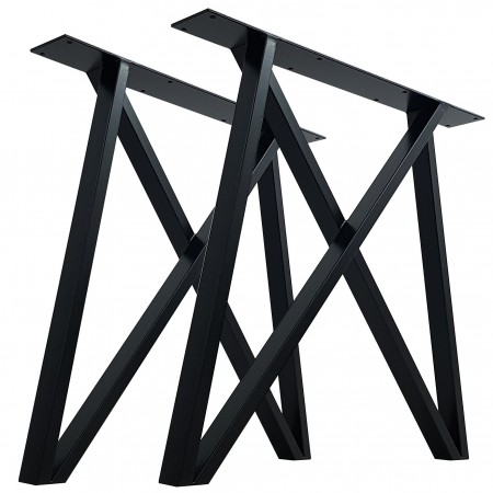 2x Metal table legs - M...
