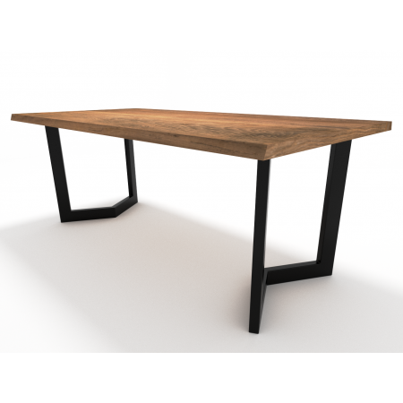 2x Metal table legs - V...