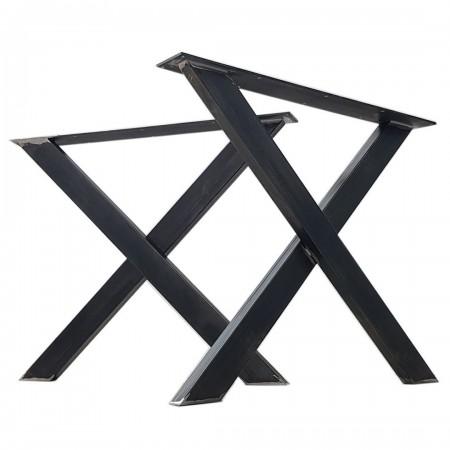 2 x Metal table legs, X...