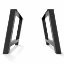 2x Metal table legs - H...