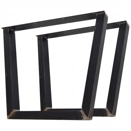 2x Metal table legs -...